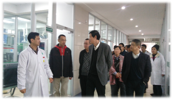 广东凯敦电子科技有限公司薛总经理一行来我中心考察调研